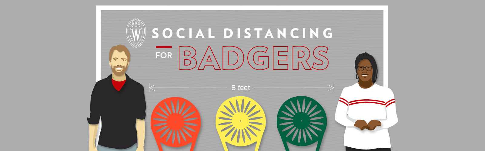 Social Distancing for Badgers: Stay six feet apart, or three terrace chairs.